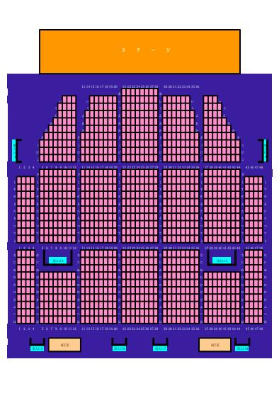 犬山市民文化会館座席表