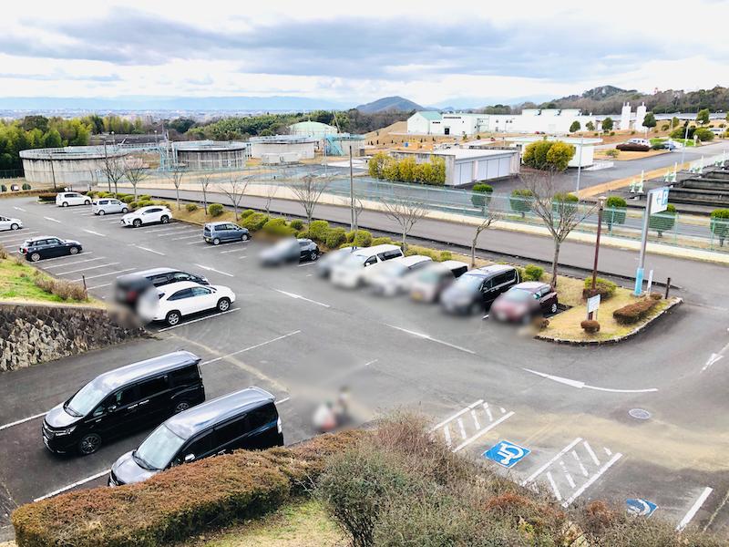 ひばりケ丘公園の駐車場