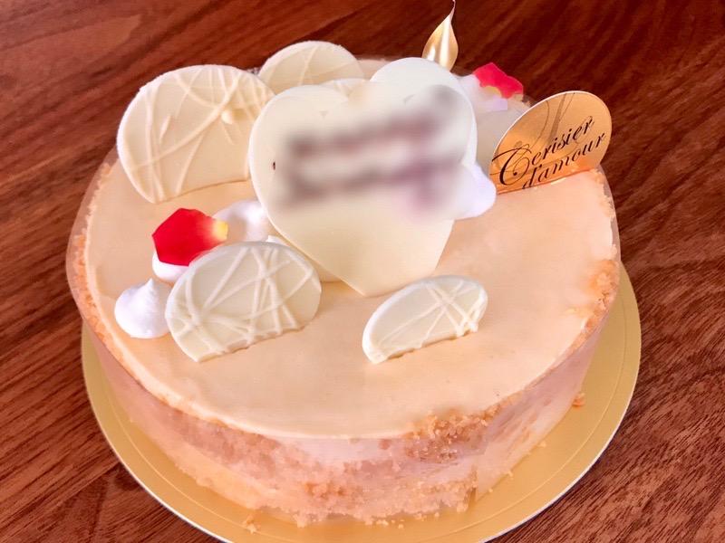ル・スリジェダムールのホールケーキ