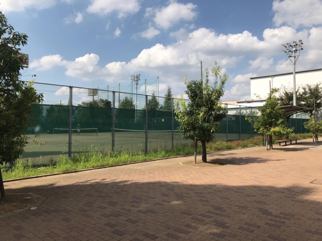 山の田公園 テニスコート1