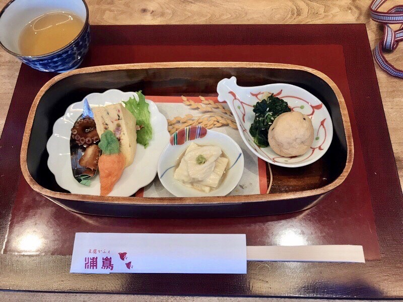 豆腐かふぇ浦嶌玉手箱ランチ