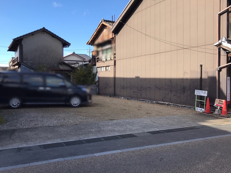 蕎麦正まつい 駐車場