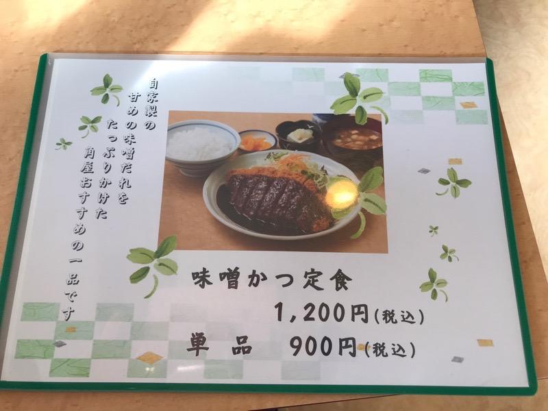 犬山 角屋4 味噌カツ定食