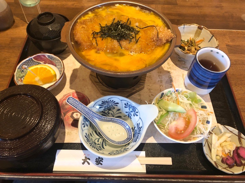 犬山 レストラン大安10 ランチ かつ鍋