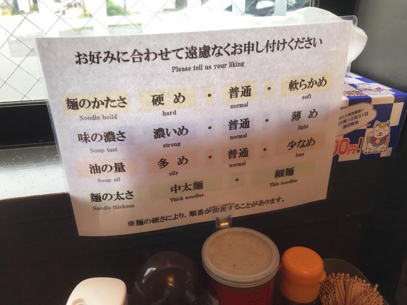 犬山 ラーメン 丸岡商店 麺の硬さ