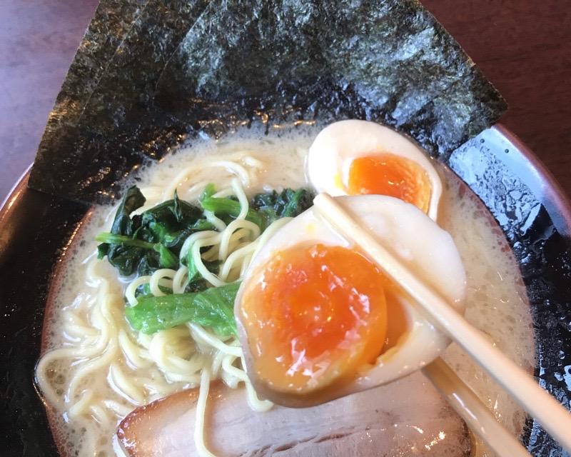 犬山 丸岡商店 ラーメン 味玉