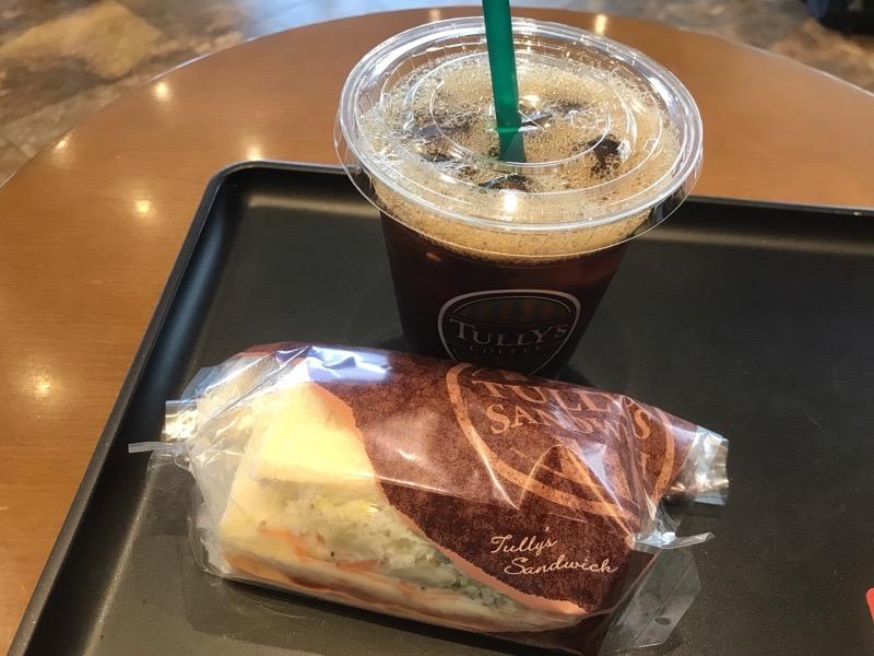 犬山小牧 タリーズコーヒー 田県神社前 アイスコーヒー サンドイッチ
